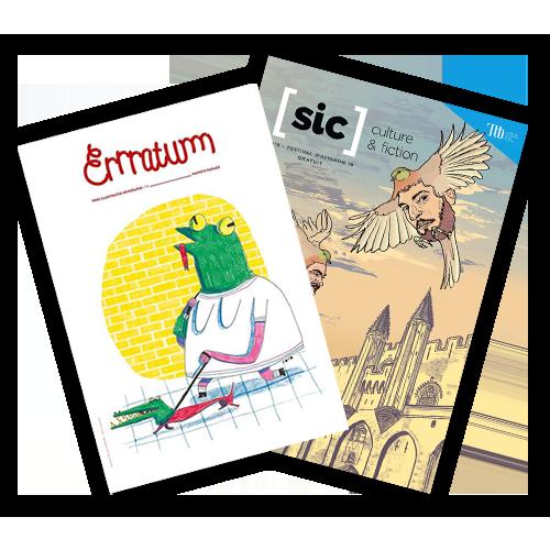 Errratum & Sic Journal couverture xun fanzine par mois