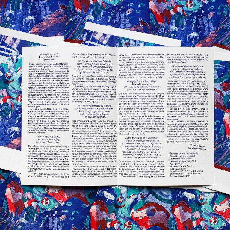 Louis Lanne x un Fanzine par Mois